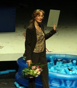 Felicia Zeller bei der Preisverleihung im DT - Foto: St. B.