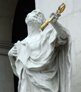 Die Schlüssel zur Ekstase in der Hand. Petrus am Salzburger Dom - Foto: St. B.