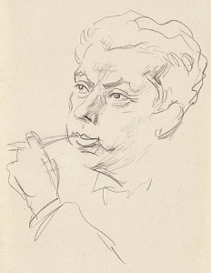 Max Reinhardt - Portrait von Emil Orlik