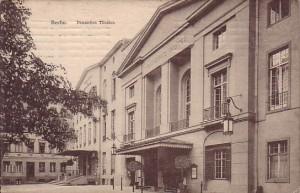 Deutsches Theater und Kammerspiele - Postkarte um 1903