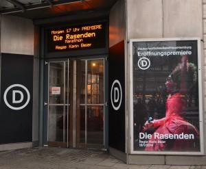DIE RASENDEN am Deutschen Schauspielhaus Hamburg. Foto: St. B.