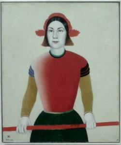 Junges Mädchen  mit roter Stange, 1932-33