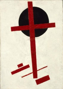 Kazimir Malevich, Mystischer Suprematismus (red cross on black circle), 1920-1922 - © Collection Stedelijk Museum Amsterdam