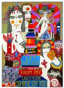 Dorothy Iannone: Let the Light from My Lighthouse Shine on You, 1981 - Privatsammlung Schweiz, © Dorothy Iannone, Foto: Jochen Littkemann, Courtesy Air de Paris, Paris