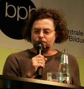 Sebastian Hartmann bei der Konferenz Theater und Netz im Mai 2013 - Foto: St. B.