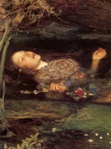 Ophelia von John Everett Millais, 1852 (Detail)