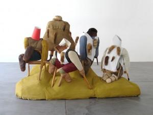 Posen in Angst im Ballhaus Ost. Bettler 2006 (c) Philip Wiegard
