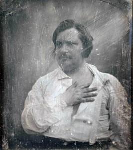 Honoré Balzac, Daguerreotypie von Louis-Auguste Bisson, 1842