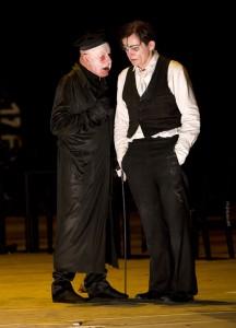 Kafkas Prozeß  mit Jürgen Holtz und Veit Schubert  © Foto: Lucie Jansch
