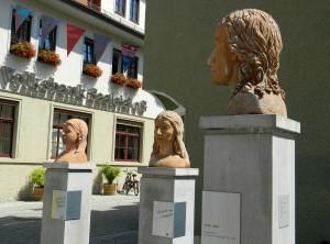 Schiller und die Lengefeld-Schwestern in Rudolstadt - Foto: St. B.