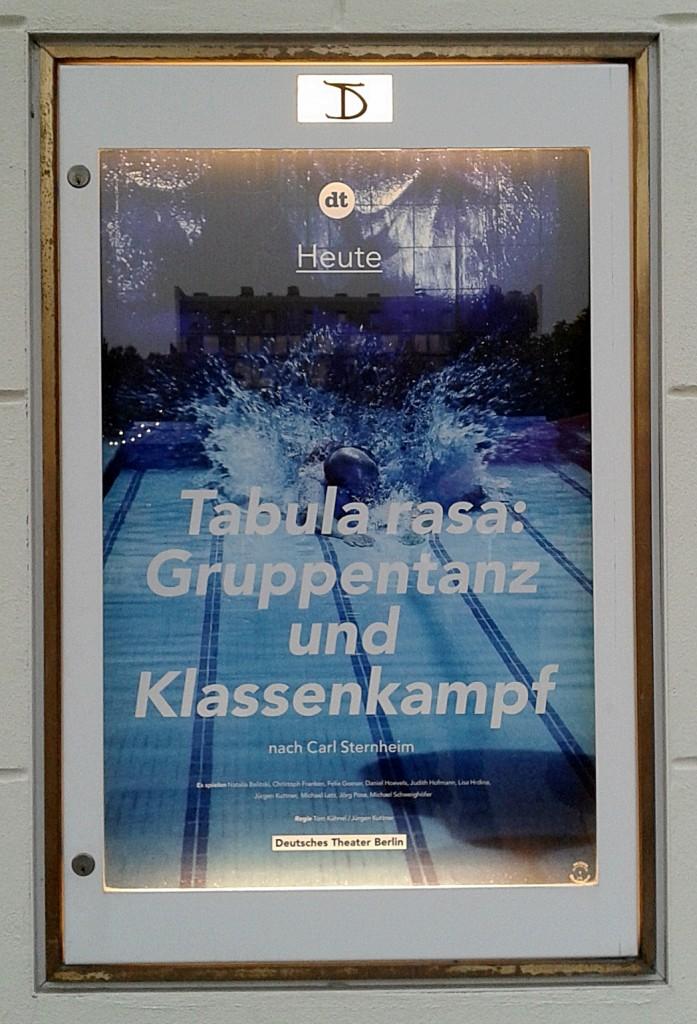 Kuttner und Kühnel am DT, Inszenierungsplakat  - Foto: St. B.