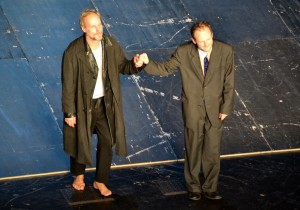 Warten auf Godot. Premierenbeifall für Wolfram Koch und Samuel Finzi am DT - Foto: St. B.