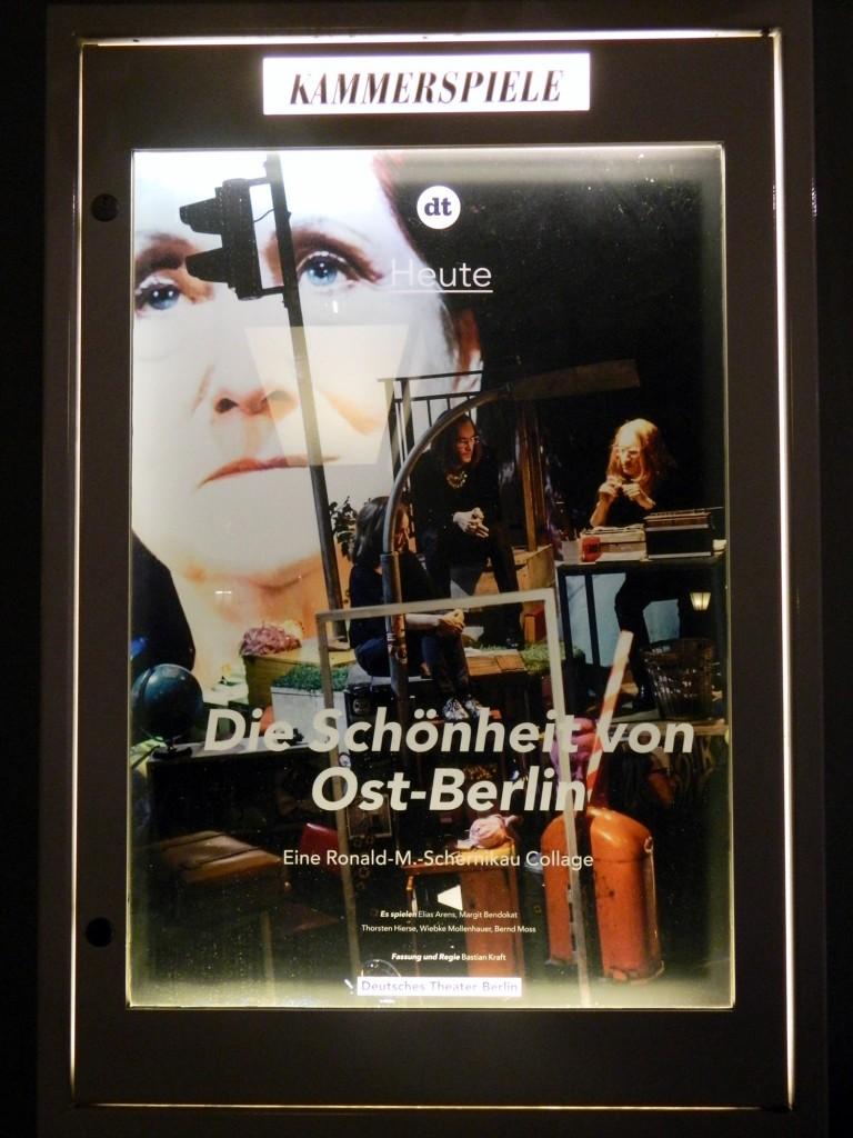 Die Schönheit von Ostberlin am DT - Foto Schaukasten