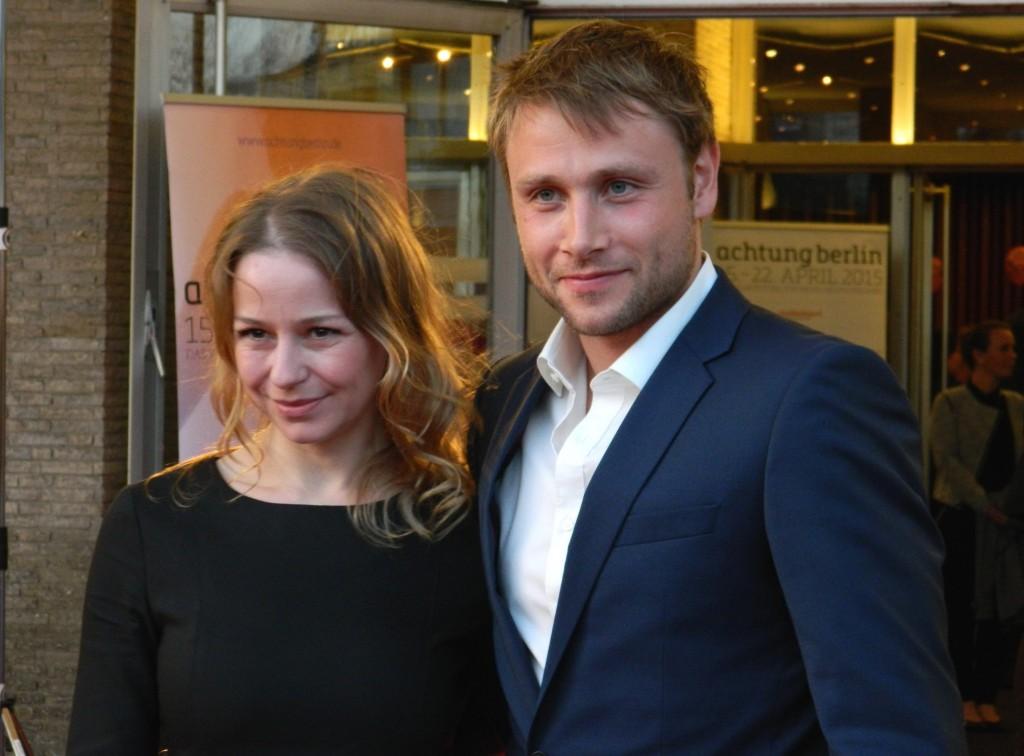 Lichtgestalten im International_Hauptdarsteller Theresa Scholze und Max Riemelt - Foto: St. B.