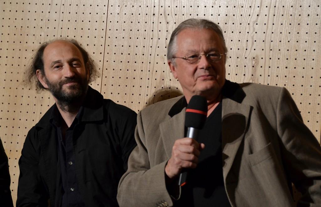 Die beiden warn's. Bühnenbildner Alexander Denic und Regisseur Frank Castorf bei der TT-Preisverleihung - Foto: St. B.