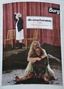 die unverheiratete - Plakat des Burgtheaters Wien