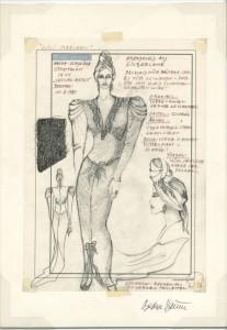 Entwurf von Barbara Baum für Hanna Schygulla - © Barbara Baum