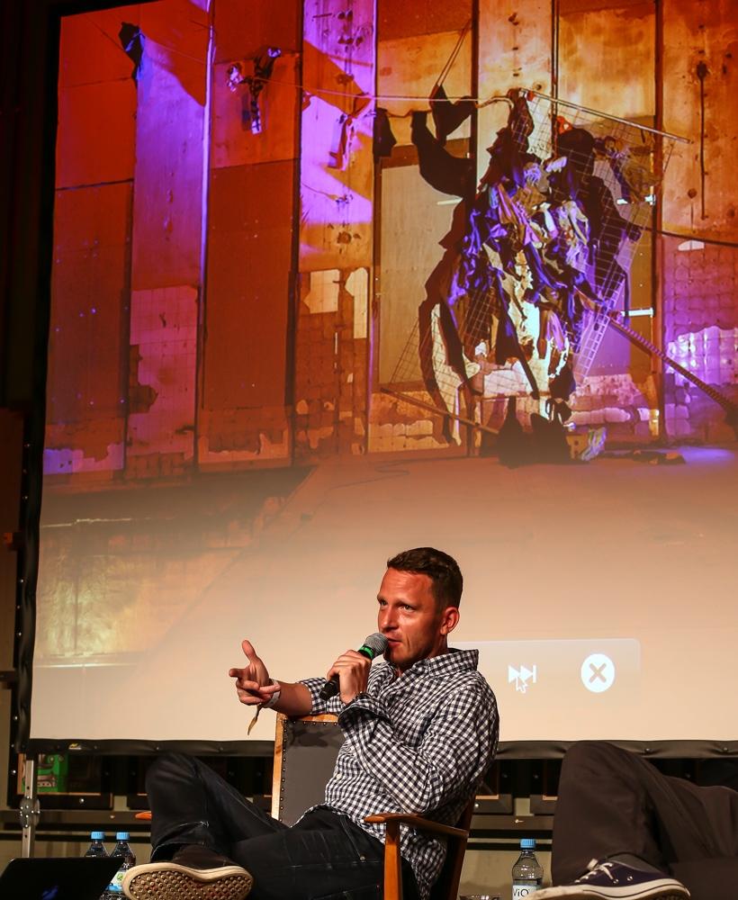 Norbert Bisky beim Pop-Kultur-Festival - Foto (c) Roland Owsnitzki Pop Kultur 2015, Berlin Gardrobe Berghain Gardrobe Kantine Opernwerkstaette