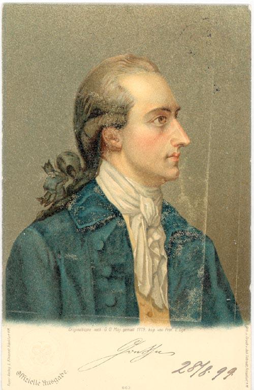 Goethe auf einer Postkarte-nach-einem-Gemälde-von-Georg-Oswald-May 1779 - Wikipedia