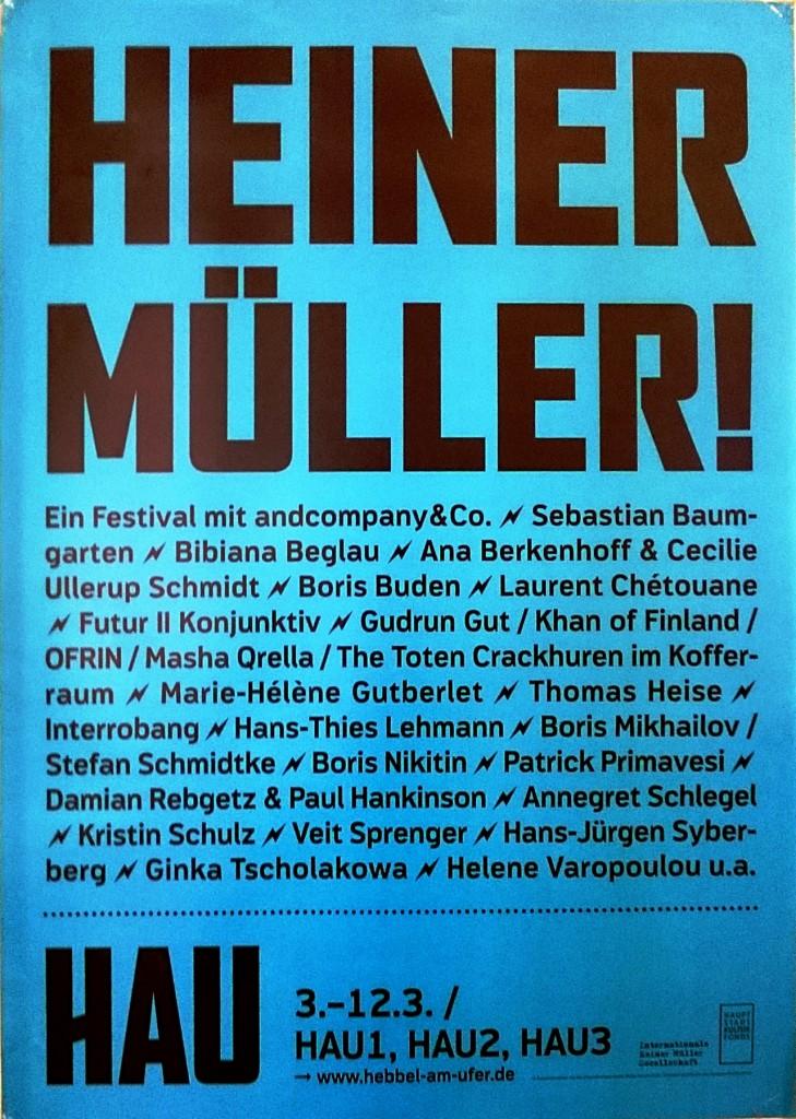 Heiner Müller!_Plakat HAU