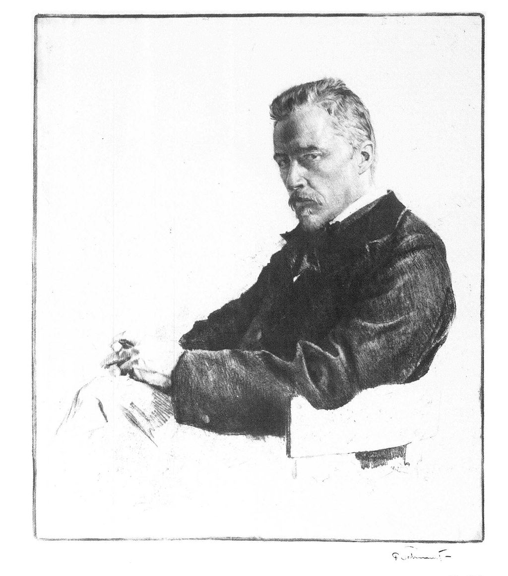 Hugo Wolf, radiert von Ferdinand Schmutzer nach einer Photographie - Foto: Wikipedia