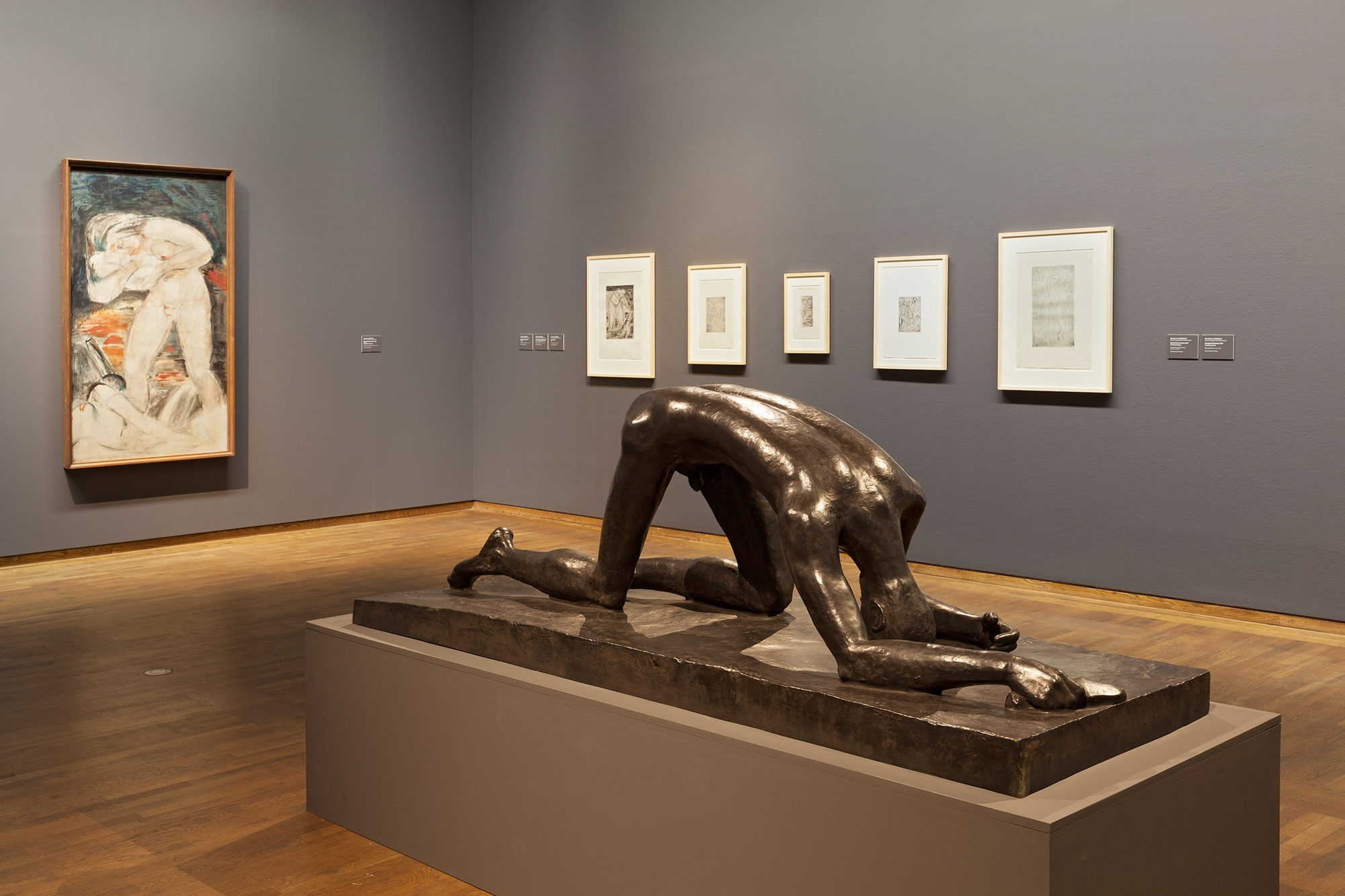 Ausstellungsansicht Leopold Museum Wien - Wilhelm Lehmbruck. Retrospektive © Foto Lisa Rastl, 2016