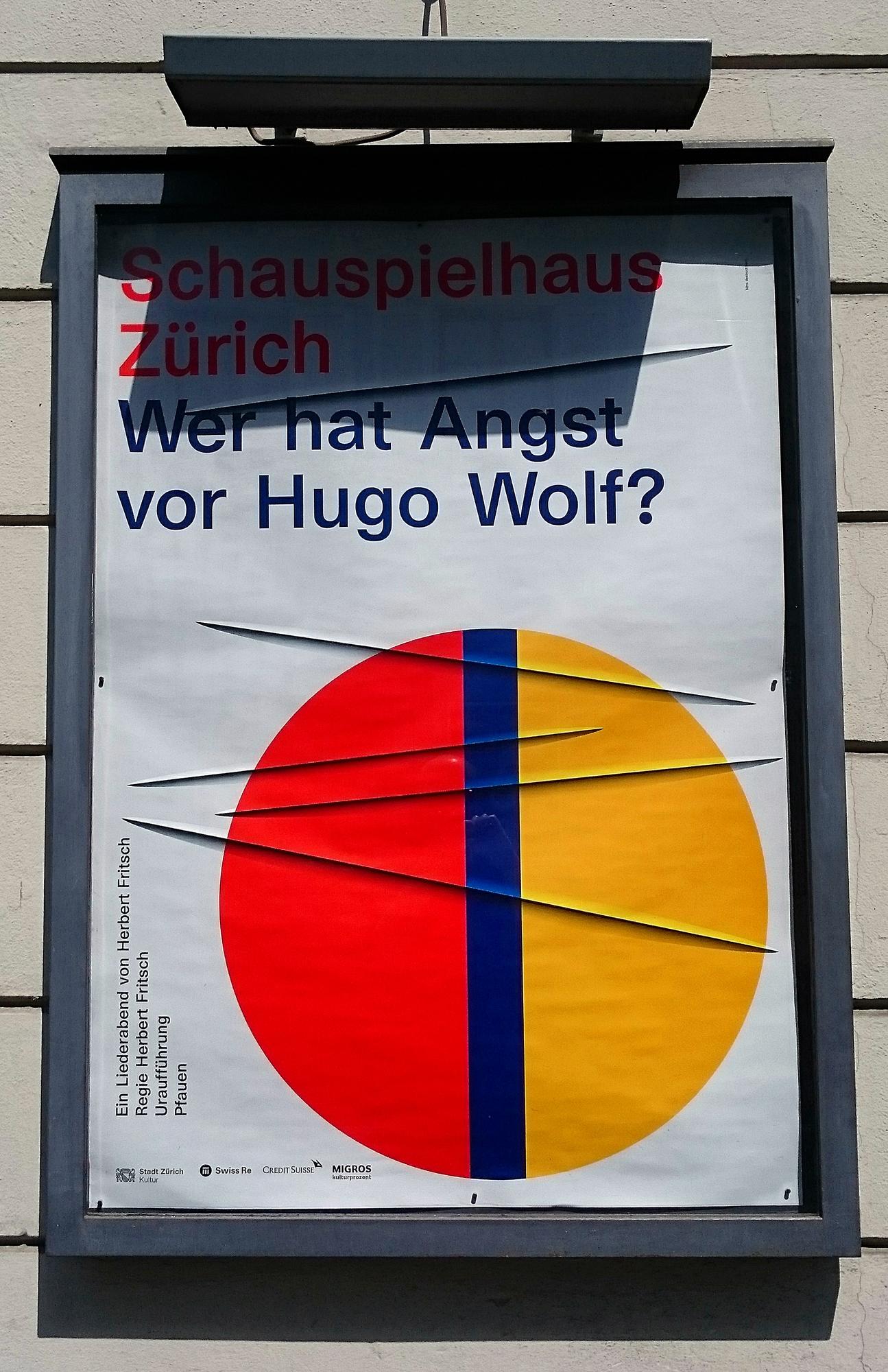 Wer hat Angst vor Hugo Wolf_Schauspielhaus Zürich_Schaukasten