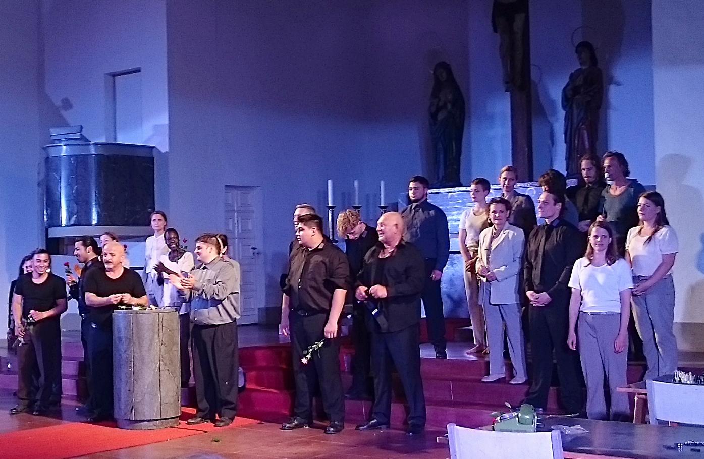Das Ensemble von Glaube Liebe Hoffnung in der St. Johanneskirche Moabit - Foto: St. B.