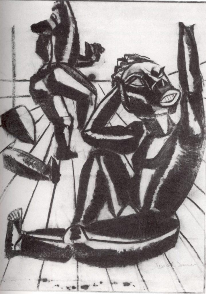 Dada Afrika - Dialog mit dem Fremden - Marcel Janco, Entwurf für Dada-Plakat zur Veranstaltung Le Chant Nègre vom 31. März 1916, Kunsthaus Zürich © VG BILD-KUNST Bonn