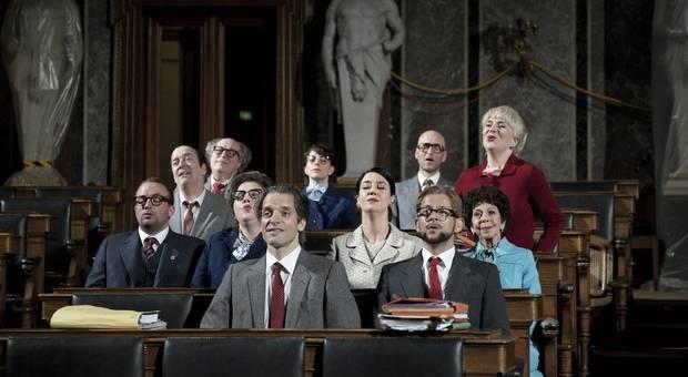 Letze Tage - ein Vorabend im historischen Sitzungssaal des Wiener Parlaments – Foto © Walter Mair